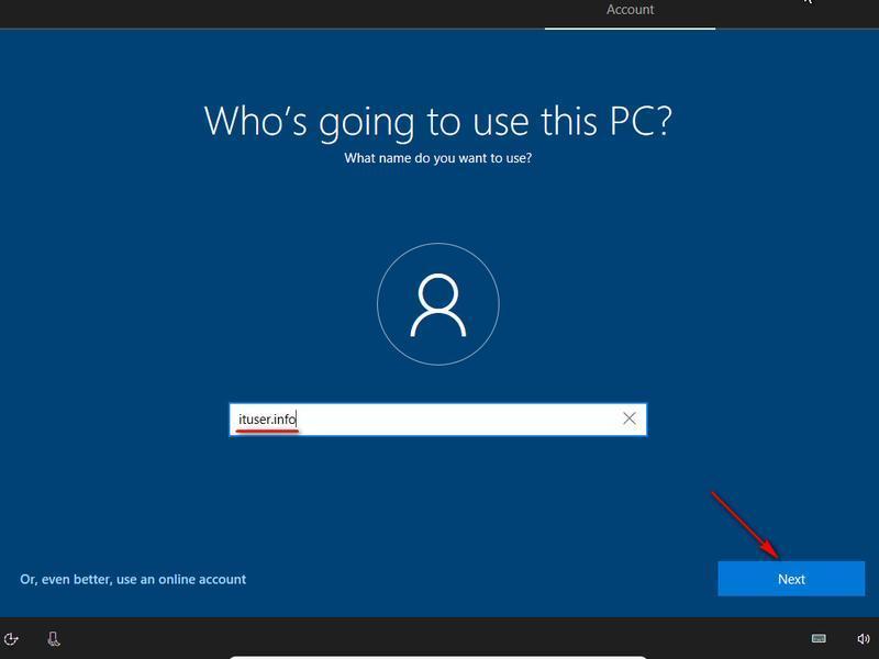 account microsoft windows 10