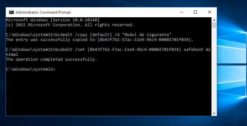 metode de a porni safe mode Windows 10
