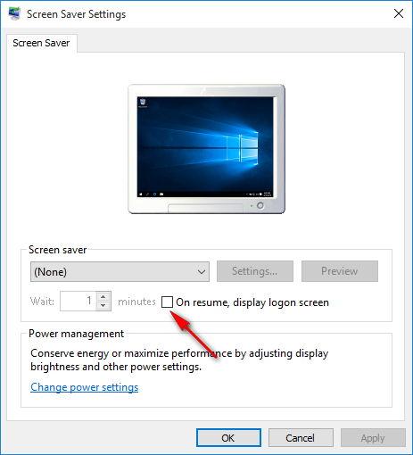 Windows 10 screensaver optiuni