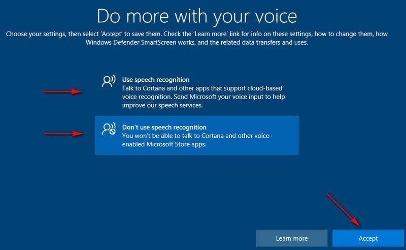 setări de configurare Windows 10