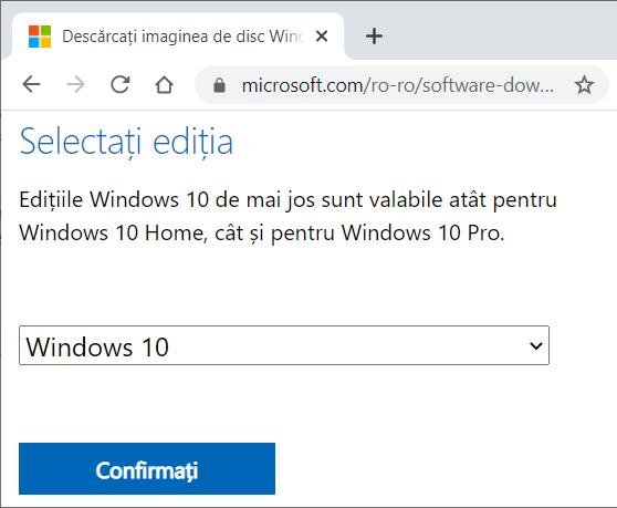 metode de descarcare windows 10