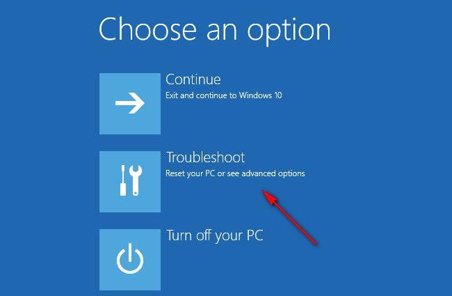 windows 10 advanced startup menu
