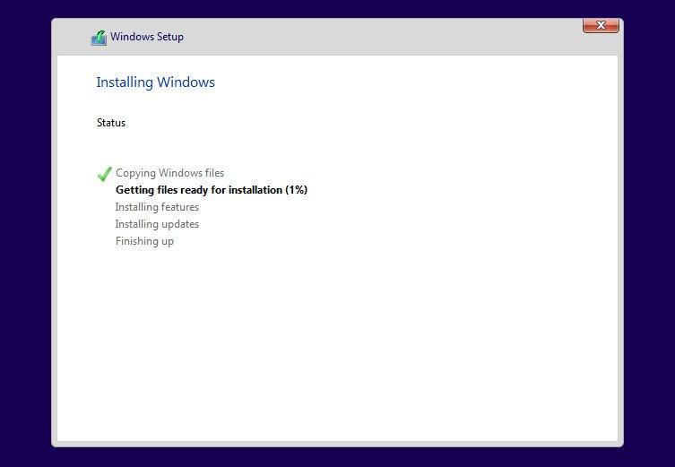 procesul de instalare windows 10 stick
