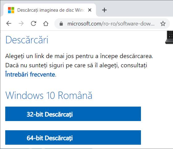 descarca windows 10 x64 sau x86