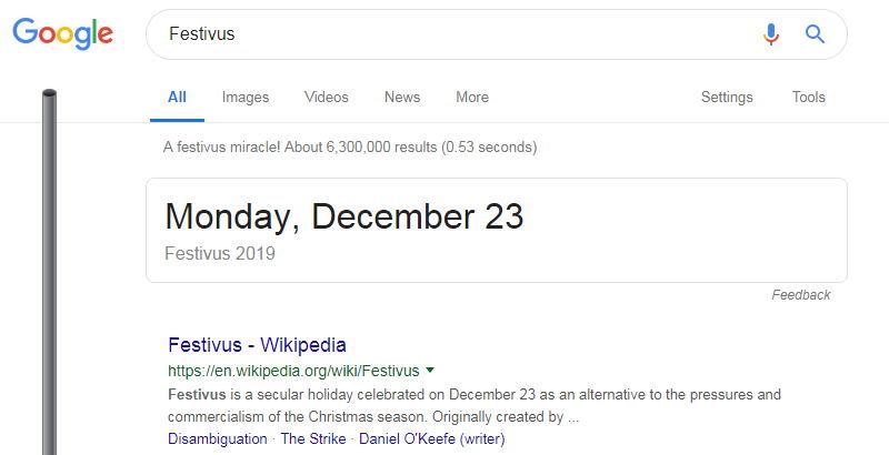 festivus google tricks
