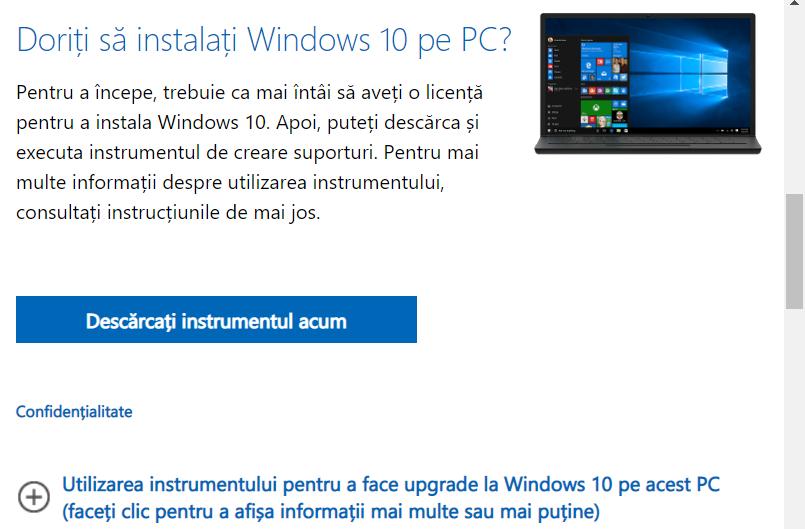 Doriți să instalați Windows 10 pe PC?