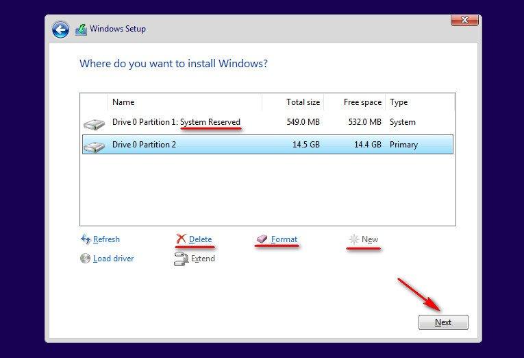 instalare windows 10 gpt disc
