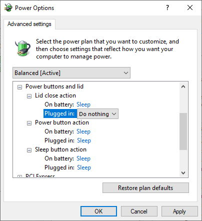 modul sleep in Windows 10